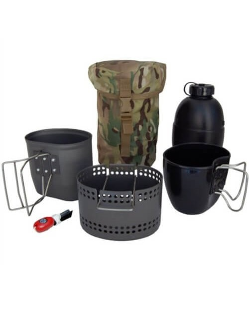 "Bushcraft cooking ""Dragon"" Crusader MKII-6 pieces - Black"