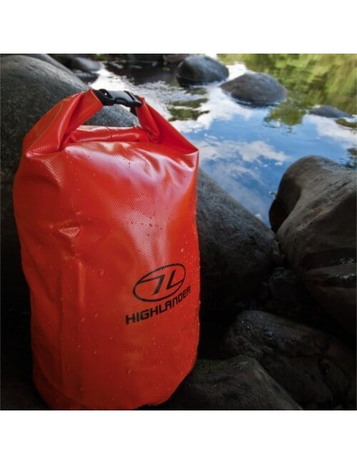Highlander waterdichte tas Dry bag Tri-Laminate PVC 16 liter - Oranje