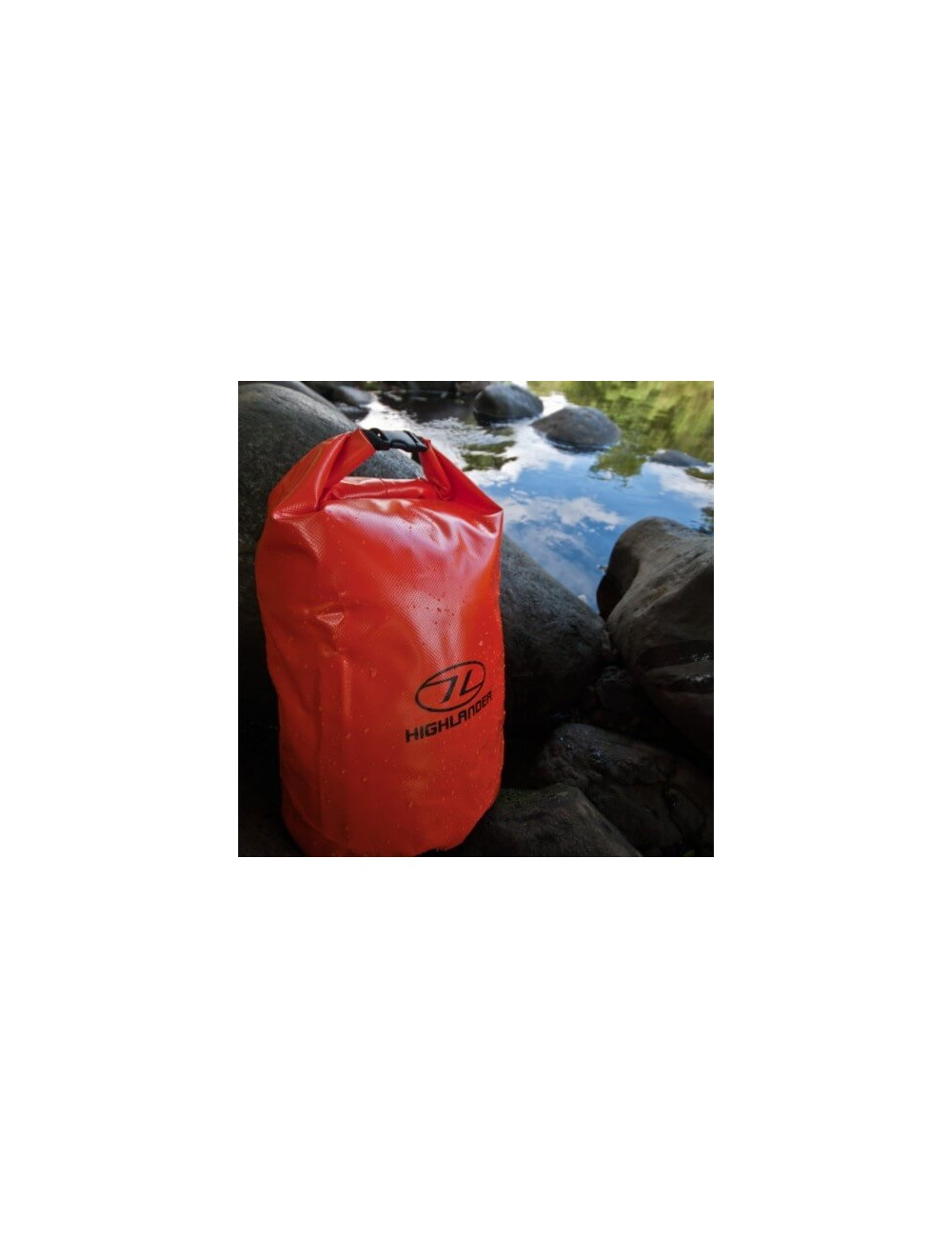 Highlander Tri Laminate PVC Dry Bag (16 liter) - Orange