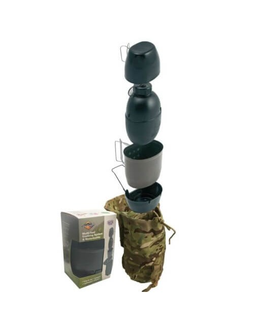 Bushcraft Multi-Fuel Cooking system & Waterbottle - ArmyGreen
