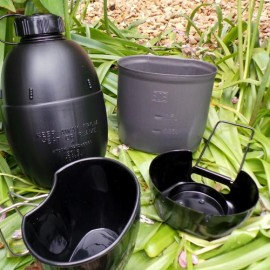 Bushcraft Multi-Fuel Cooking system & Waterbottle - Black