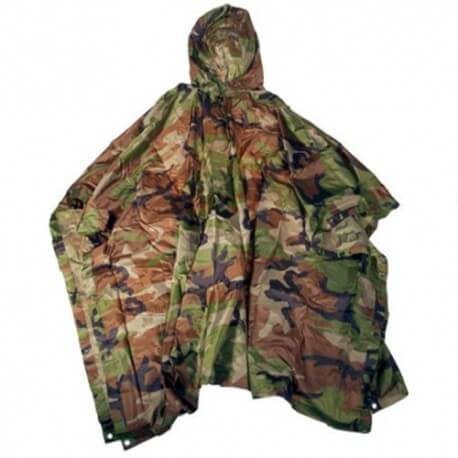 Fostex Poncho Ripstop Woodland - camouflage Groen