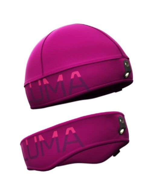 Luma Active LED combinatieset - 122 lumens, headband and hat - Purple