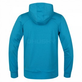 The Husky t-shirt Alony-M with hood and pocket - Blue