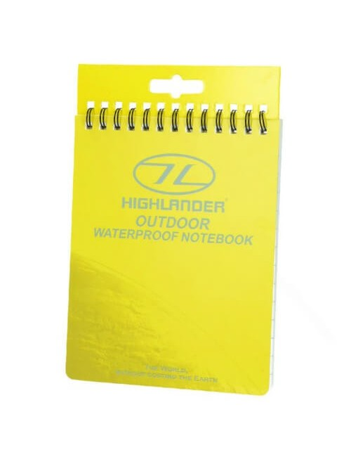 Highlander impermeabile notebook all'Aperto di grandi dimensioni 15x12 cm - Giallo