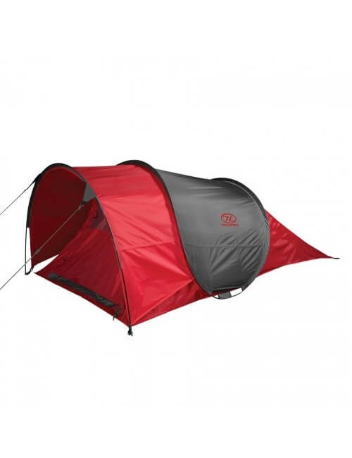Highlander Bracken, Of 2 Lightweight pop-up tent - 2 Person – Red