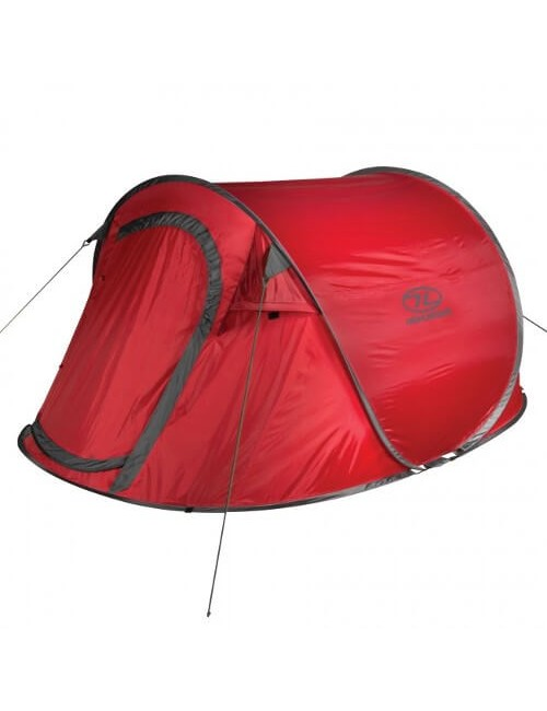 Highlander Heather 3 - Lichtgewicht pop up tent - 3-Persoons – Rood