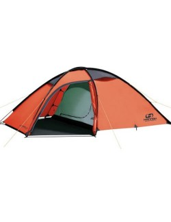 Hannah, the Outdoor Sett of 2 lightweight tent 2 person - Orange-green-Red