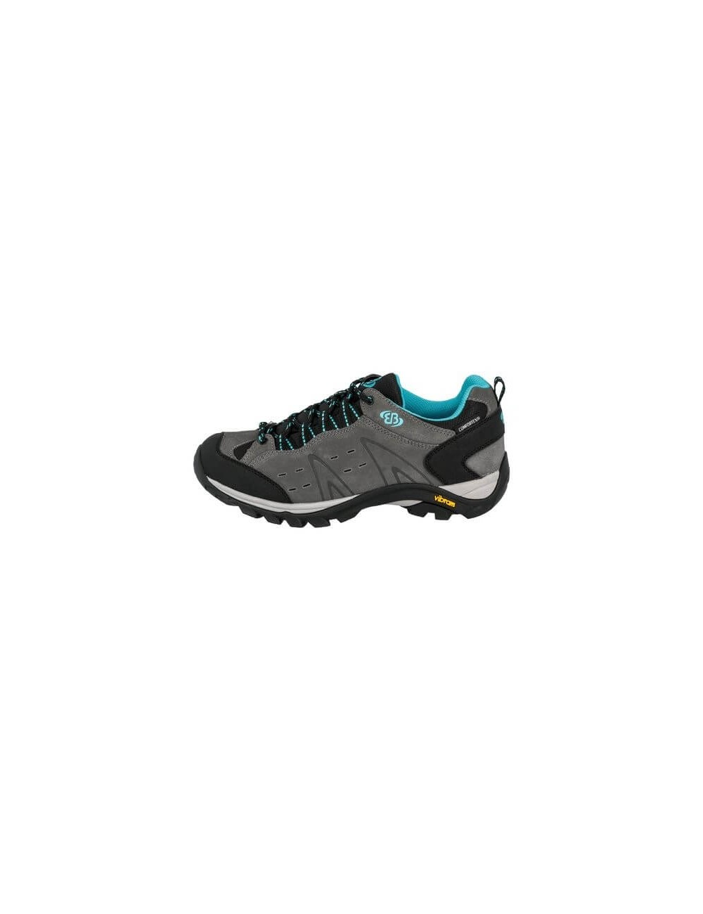 classic fit 3825b efa35 Brütting, hiking shoes, ladies, Mount Bona Low - Grey - and- Turquoise -