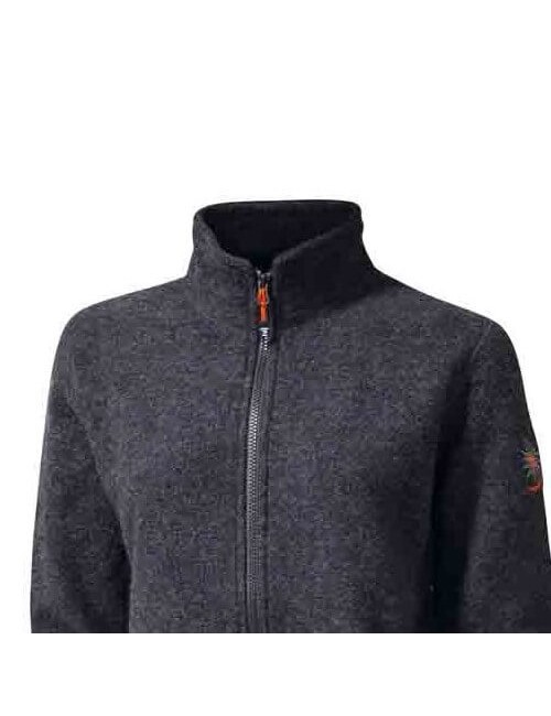 They ladies jacket, full zip, This boiled wool-and-lycra -casual - Grey -