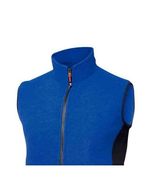 Ivanhoe men's jacket, Vinh Royal boiled wool with Lycra - sporty - Blue -
