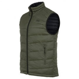 Highlander insulated vest is reversible-Reversible Vest - Black / Olive