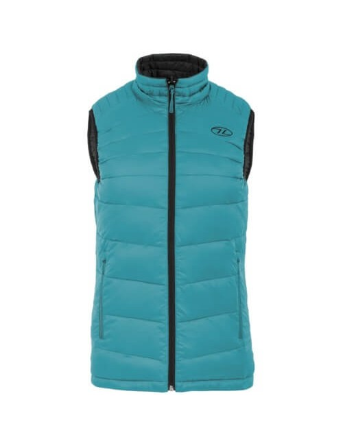 Highlander insulated vest is reversible-Reversible Vest for women Turquoise