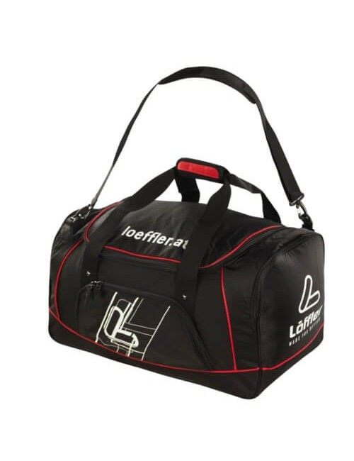 Loeffler weekendtas Sports Bag 60 liter - Zwart Rood