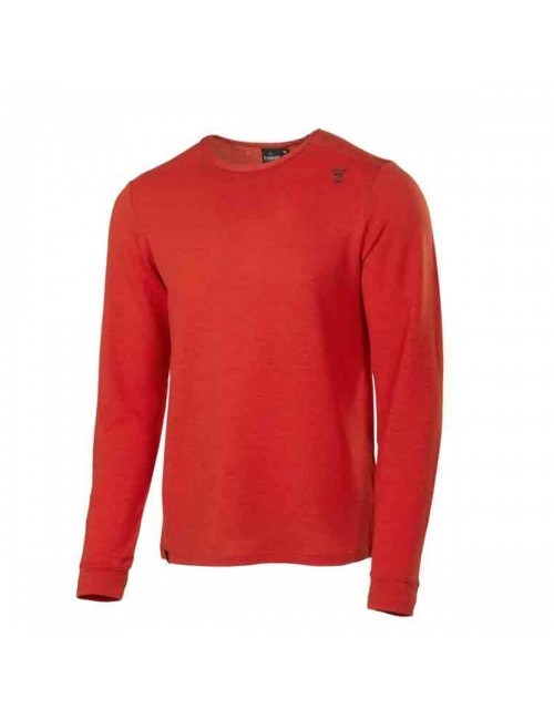 They sweater, long-sleeve shirt, Leo men's merino wool - Orange