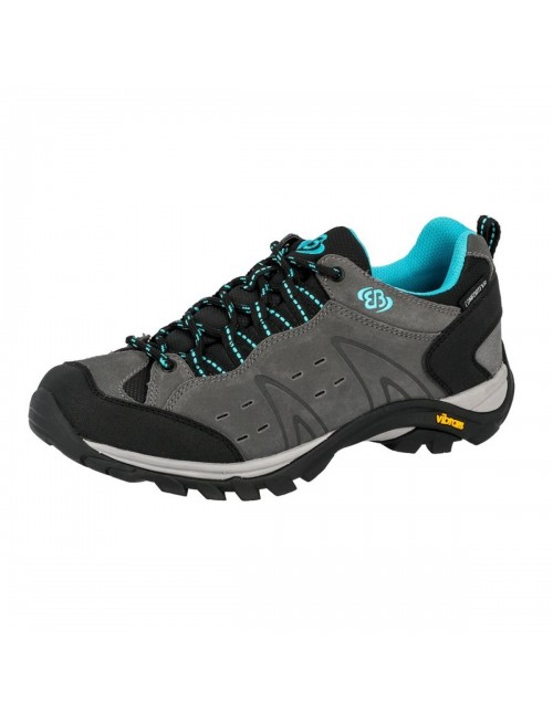 Brütting, hiking shoes, ladies, Mount Bona Low - Grey - and- Turquoise -