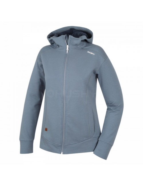 Husky sweatshirt Anah L for ladies with hood and zipper - Grey