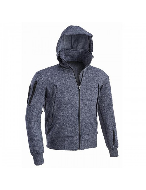 Defcon 5 men's hoodie vest jacket Tactical hooded jacket - Navy Blue