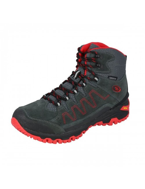 Brütting, hiking shoes, Mount Nansen-High - Grey - Red