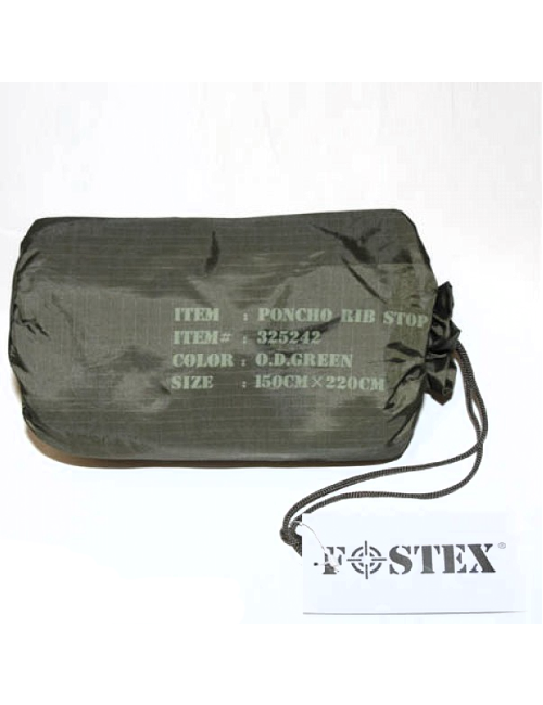 Fostex poncho Ripstop - One Size - Groen