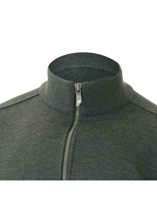 Ivanhoe windbreaker Assar WB-Riffle Green, with front zip merino wool To 2020 - Green