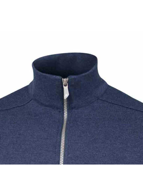 Ivanhoe windbreaker Assar WB, Steel Blue, with front zip merino wool To 2020 - Blue