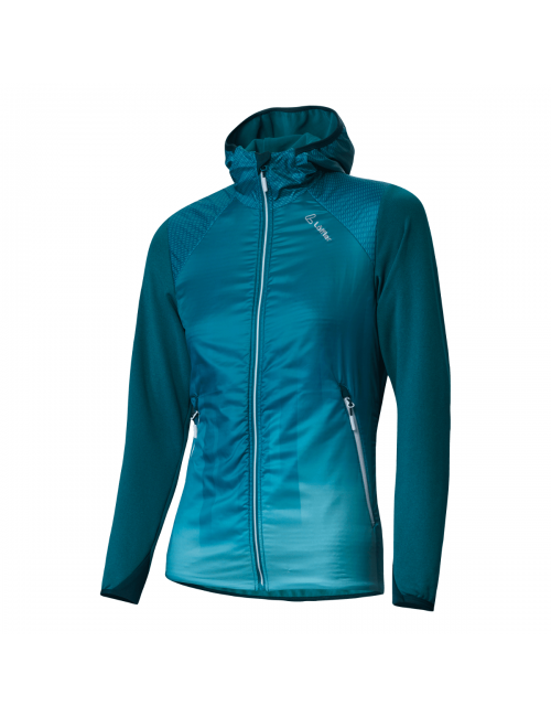Loeffler jacket, women's-W Hooded Jacket-Speed Beach Primaloft Blue