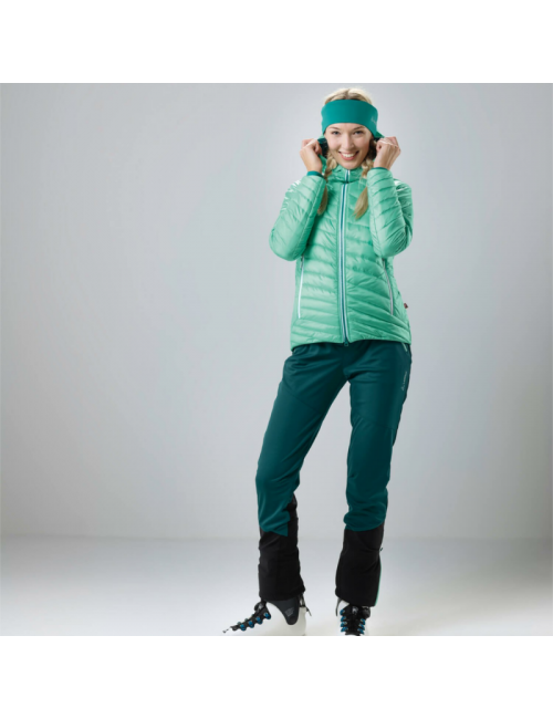Loeffler outdoorbroek W of the Touring Pants, the Pace WS, Light Teal, Green, and Blue