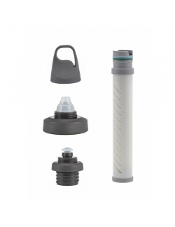 LifeStraw water filter with Universal adapter kit for a variety of water bottles