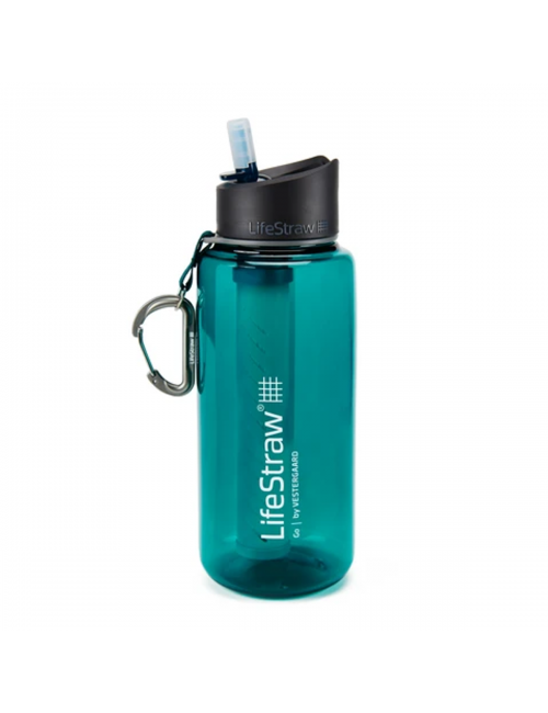 LifeStraw waterfilterfles Go 1 liter - Dark Teal - Groen