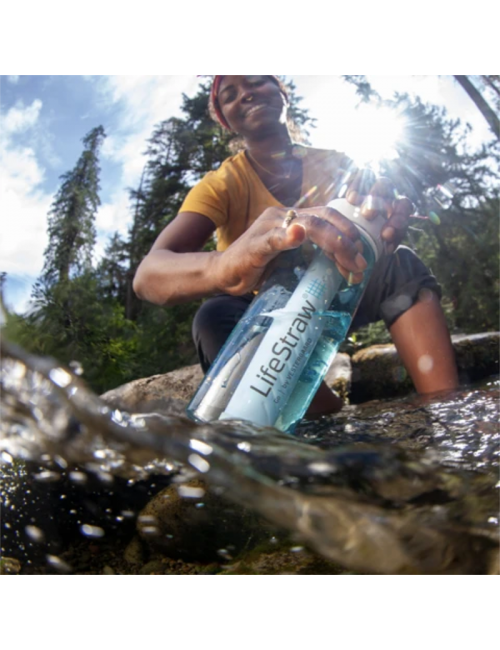 LifeStraw waterfilterfles Go 1 liter - Grijs