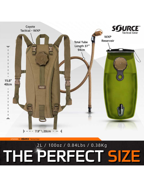 Source Tactical water bag - hydration pack for 2 liter backpack - Black