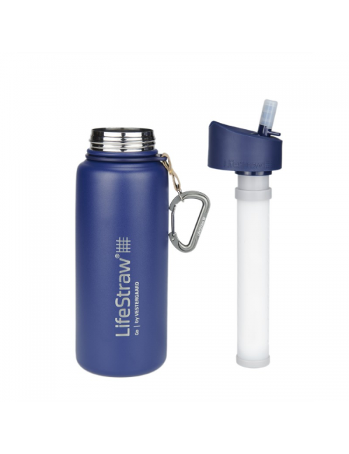 LifeStraw waterfilterfles Stainless Steel geïsoleerd RVS 710 ml -Blauw