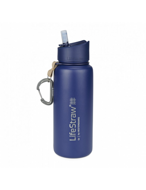 LifeStraw waterfilterfles, Stainless Steel, insulated STAINLESS steel, 710 ml, Blue