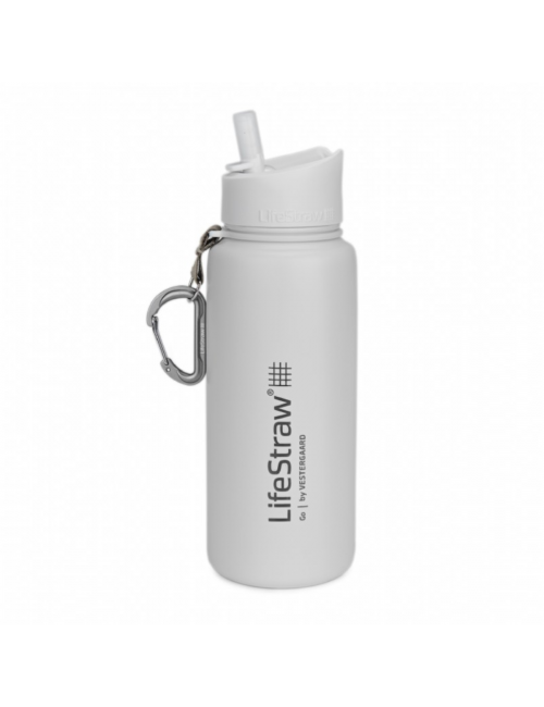 LifeStraw waterfilterfles Stainless Steel geïsoleerd RVS 710 ml - Wit