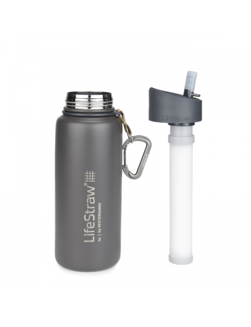 LifeStraw waterfilterfles Stainless Steel geïsoleerd RVS 710 ml -Grijs