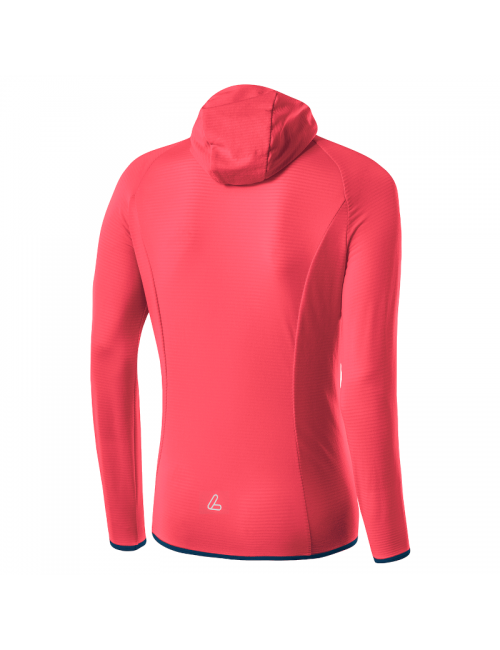 Loeffler's shirt long sleeve shirt women W Hoodie FZ TechFleece Sunrize - Pink