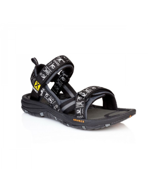 Source sandals for men Gobi Black Inca-outdoor - Black